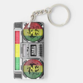 boombox reggae Double-Sided rectangular acrylic keychain