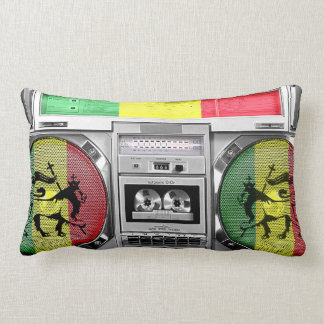 boombox reggae lumbar pillow
