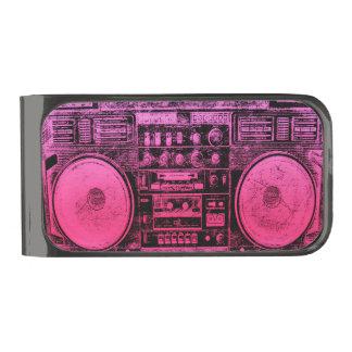 boombox rosado clip para billetes metalizado