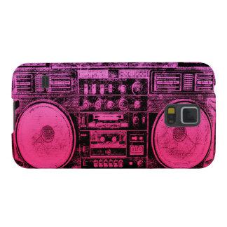 boombox rosado funda galaxy s5