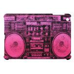 Boombox rosado iPad mini funda