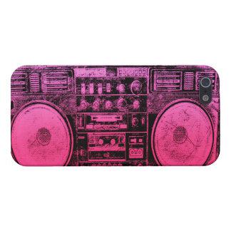 Boombox rosado iPhone 5 carcasa