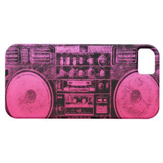 Boombox rosado iPhone 5 carcasas