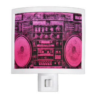 boombox rosado lámparas de noche