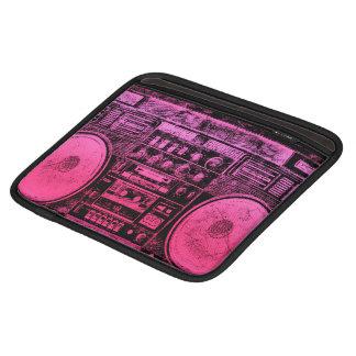 Boombox rosado mangas de iPad