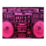 boombox rosado postal
