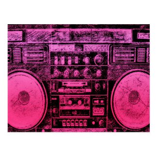 boombox rosado postales