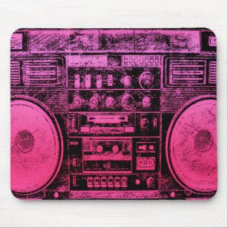 boombox rosado tapetes de ratones