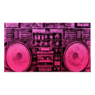 boombox rosado tarjetas de visita