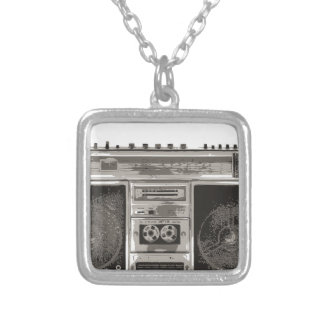 Boombox Silver Plated Necklace