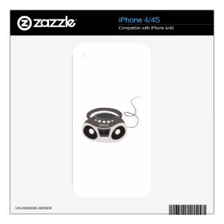 Boombox Decals For iPhone 4