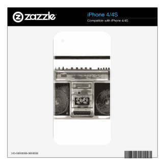 Boombox Skin For iPhone 4S