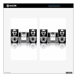 BoomBox Stereo Kindle Fire Decals