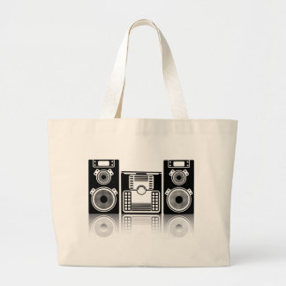 BoomBox Stereo Large Tote Bag
