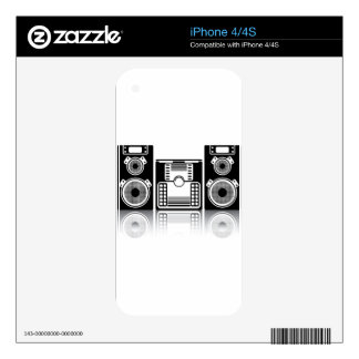 BoomBox Stereo Skins For The iPhone 4