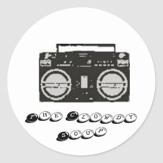 boombox, The Clowdy Soup Classic Round Sticker