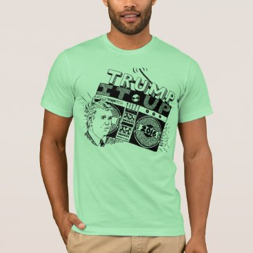USA Themed Boombox TRUMP IT UP Lime American Apparel T-Shirt