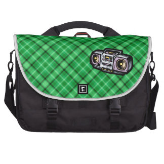 Boombox verde bolsas para portátil