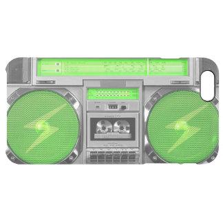 Boombox verde funda clear para iPhone 6 plus