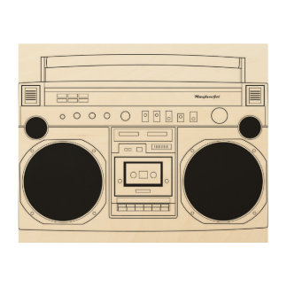 BoomBox with MaryJanesGirl decal Wood Canvases