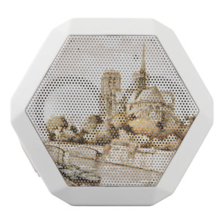 Boombox with 'Notre Dame Cathedral' image White Bluetooth Speaker