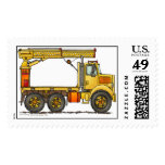 Boomed Flatbed Truck Construction Stamps