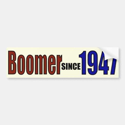 BOOMER 1947 CAR BUMPER STICKER
