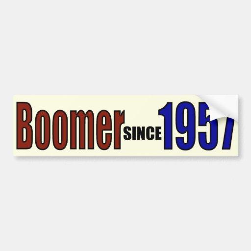 BOOMER 1957 CAR BUMPER STICKER