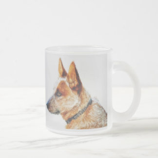 Boomer Frosted Glass Mug