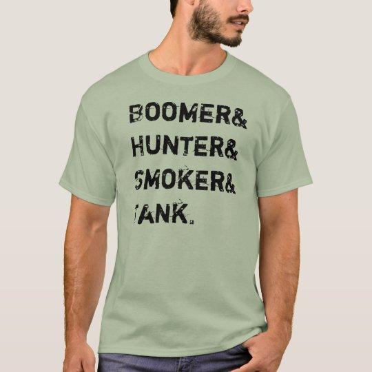 Boomer& Hunter& Smoker& Tank. T-Shirt