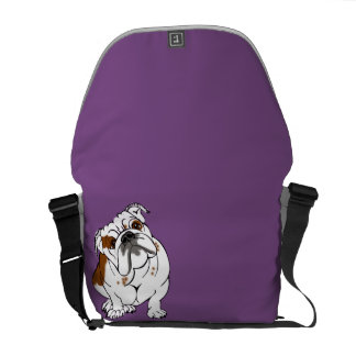 Boomer the Bulldog Messenger Bag