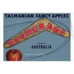Boomerang Apples - Vintage Fruit Crate Label