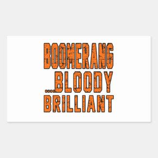 Boomerang Bloody Brilliant Rectangular Sticker