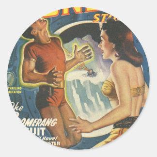 Boomerang Circuit Classic Round Sticker