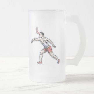 Boomerang Event Frosted Glass Beer Mug