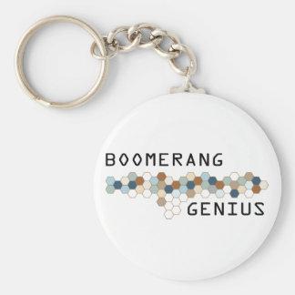 Boomerang Genius Basic Round Button Keychain
