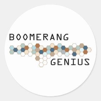 Boomerang Genius Classic Round Sticker