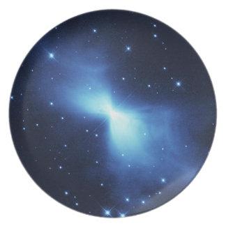 Boomerang nebula party plates