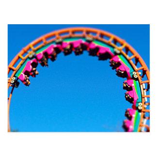 Boomerang Roller Coaster Worlds of Fun, KC Postcard