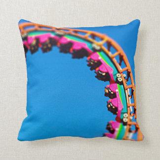 Boomerang Roller Coaster Worlds of Fun, KC Throw Pillow
