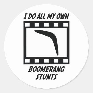 Boomerang Stunts Classic Round Sticker