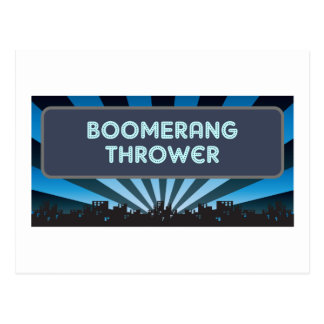 Boomerang Thrower Marquee Postcard