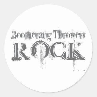 Boomerang Throwers Rock Classic Round Sticker