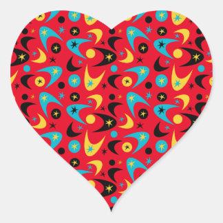 Boomerangs Heart Sticker