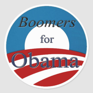 Boomers for Obama - Sticker