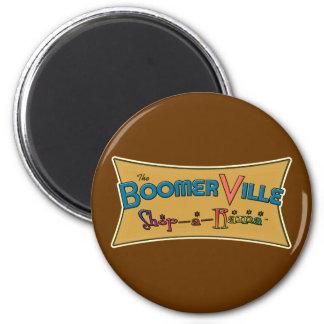 Boomerville Shop-a-Rama Logo Gear 2 Inch Round Magnet