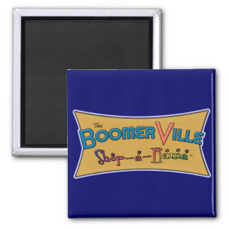 Boomerville Shop-a-Rama Logo Gear 2 Inch Square Magnet