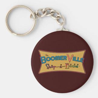 Boomerville Shop-a-Rama Logo Gear Basic Round Button Keychain