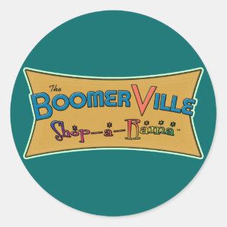 Boomerville Shop-a-Rama Logo Gear Classic Round Sticker