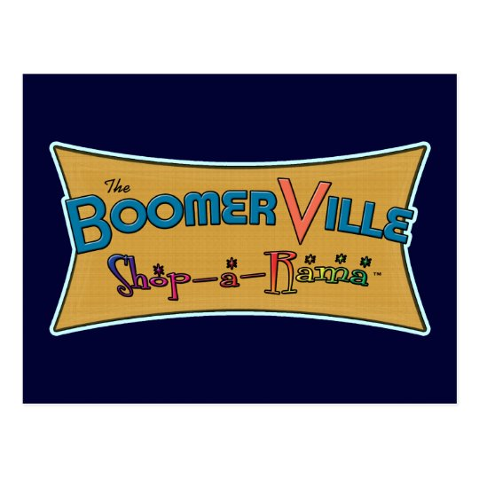 Boomerville Shop-a-Rama Logo Gear Postcard